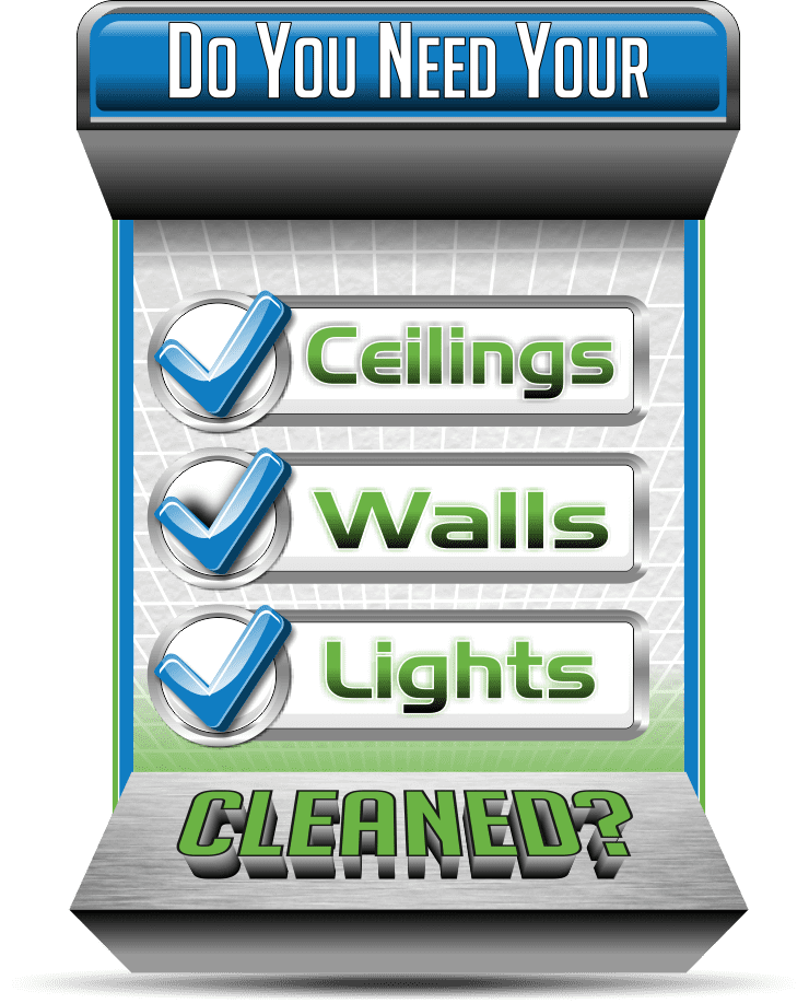 Do you need your ceiling, wall and lights cleaned, then call us!