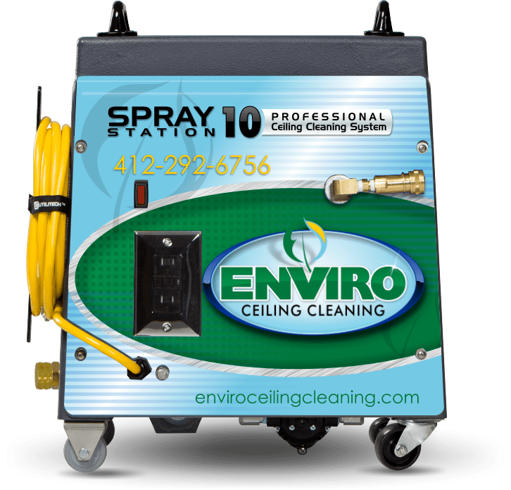 Spray Station 10 Ceiling Cleaning System Designed for Acoustical Ceiling Tile Cleaning Services in Morgantown PA