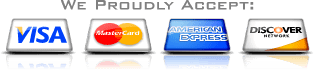 We proudly accept credit cards for payment - Lighting Services Company for Lighting Services in Uniontown PA